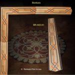 bordiury geometryczne intarsje podłogowe