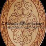 renesans floor inlays rozeta intarsjowana