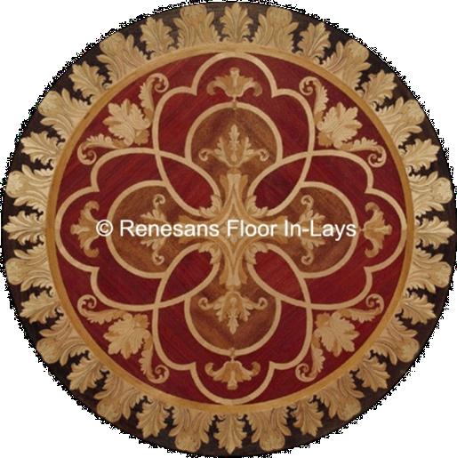 podłogi intarsjowane rozety
