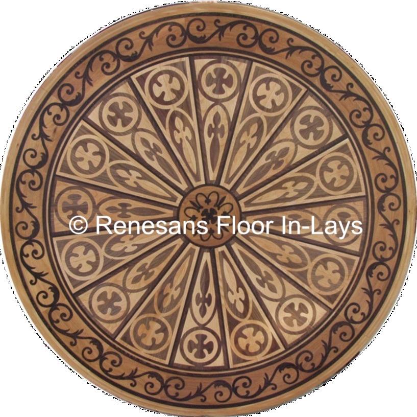 rozety podłogowe okrągłę renesans floor inlays rozety