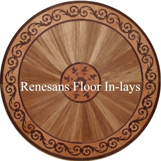 podłogi z drewna mozaiki rozety