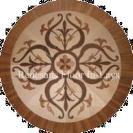 rozeta podłogowa intarsja